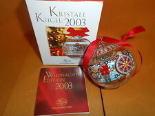 """Hutschenreuther Kristallkugel  2003  """"  Neu OVP  Glaskugel Schweiz"""