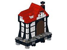 Lego - Old Town - F02 - Haus I (Linke Ecke - schwarz&weiß)
