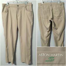 Aston Martin Men's Golf Pants 36 x 29L, Khaki Beige, Perfect Condition