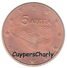 Griekenland 2002 5 Cent UNC