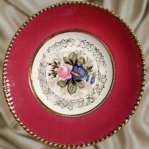 "RARE Antique Russian Porcelain Dish 8"" Kuznetsov Volkhov Factory 1896 -1917 Mark"