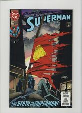 Superman #75 & Death Of Superman TPB - Signed By Brett Breeding - (Grade 9.2) WH