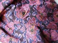 LIBERTY Fabric DUFOUR VISCOSE JERSEY Floral - By the Metre