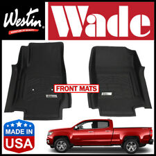 Westin Wade Sure-Fit 2015-2019 Chevrolet Colorado Front 1st Row Floor Mats BLACK