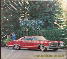 1965 Buick Color Upholstery Dealer Album Riviera Skylark Special LeSabre Electra