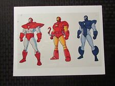 "IRON MAN Promo Acetate Animation Cel 10x6.5"" VG 4.0 Three Suits of Armor"