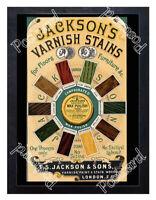 Historic Jackson's Varnish Stains, T.S. Jackson & Sons 1880 Advertising Postcard