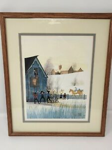P. Buckley Moss Framed signed sold out 1985 Print 14x16