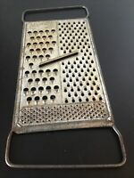 Vintage Metal Cheese Veggie Grater Shredder All In One Hand Held Kitchen Tool