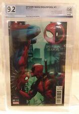 """Spider-Man / Deadpool """"Gamestop Variant Edition"""" #1 Marvel 2016"""