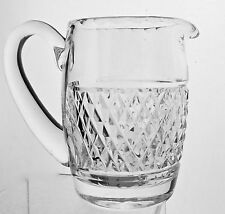 WATERFORD CRYSTAL CASHEL QUILTED PATTERN CREAMER/SMALL PITCHER SIGNED
