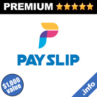 Payslip.info Brandable Valuable Domain Name (Premium Domains Names Sale GoDaddy)