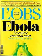 LA OBS Nº2608 30 OCTUBRE 2014 ÉBOLA/ RAP/ EMPRESARIOS/ GAZA/ MERAH/ KOCH
