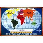 LA Rug FT-167 3147 Fun Time Kids World Map- Multi-Color