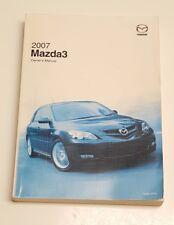 2007 MAZDA 3 MAZDA3 OWNERS MANUAL GUIDE i S V4 2.0L 2.3 AUTO MAN SEDAN HATCHBACK