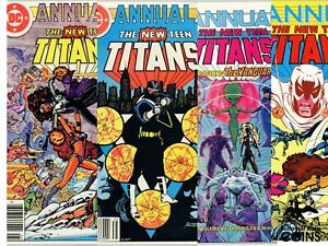 Lot of 4: DC Comics 1982-1986 The New Teen Titans, Annual Issues, Final Conflict