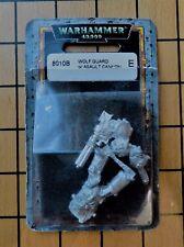 40k Rare oop Blister Metal Space Marine Wolf Guard Terminator Assault Cannon NIB