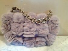 AUTHENTIC Christian Dior Fur Chain Handbag Purse Excellent Cond Never Used