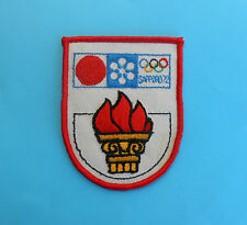 WINTER OLYMPIC GAMES SAPPORO '72. Japan - vintage official olympics patch *1972.