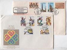 FDC AL42 Zimbabwe 1980th Communication year 2 pcs