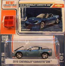 BLUE 2010 CHEVROLET Z06 CORVETTE GREENLIGHT 1:64 SCALE DIECAST METAL MODEL CAR