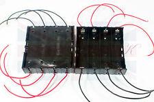 NUOVO IN PLASTICA fai da te lo stoccaggio di batterie CON 8 PORTA Case Box Holder per 4 x 18650 UK