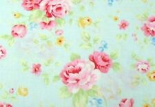 Cottage Shabby Chic Lecien Antique Flower Sky Rose Bouquet 31420L-70 BTY