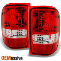 Fit 01-11 Ford Ranger Pickup Red Clear Tail Light Rear Brake Lamps Replacement