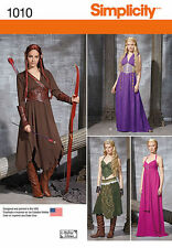 SIMPLICITY SEW PATTERN 1010 MISSES MEDIEVAL HOBBIT, ELF, WARRIOR COSTUMES 14-22