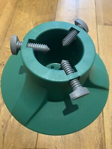 Plastic Green Christmas Tree Stand - Used Once. Suit 4-6 Foot