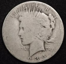 "1934-p Peace Silver Dollar.  Poor 1, ""Low Ball"".  118851"