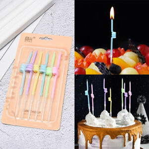 Birthday Candle Curve Spiral Thread Candle Rainbow Color Cake DecorationB_ZY