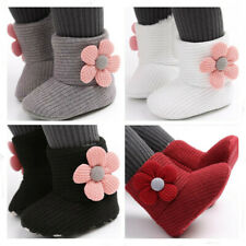 Newborn Baby Girl Flower Crib Shoes Toddler Comfortable PreWalker Trainers Boots