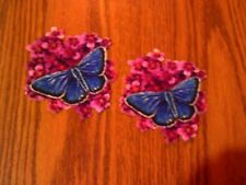 Pretty Butterfly On Flower - 2 - Iron-On Appliques (C)