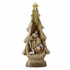 """16.5"""" Rejoice Nativity Tree Holy Family Figurine"""