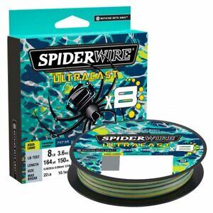 Spiderwire Ultracast Braid, Superline, 8lb test, 328yd, Aqua Camo