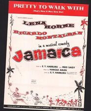 Pretty To Walk With 1957 Jamaica Lena Horne Sheet Music