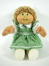 Vintage Cabbage Patch Kids Girl 1985 Beige Loop Hair Green Eyes #3
