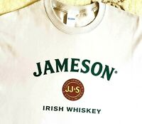 JJS JOHN JAMESON & SON Limited Jameson Irish Whiskey Men's White T-Shirt S - 3XL
