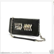 GUESS BY MARCIANO Elin Kling Chevron Clutch Lamb Leather Purse Handbag