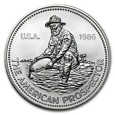 1986 1 oz Silver Round - Engelhard Prospector (Eagle Reverse) - SKU #66559