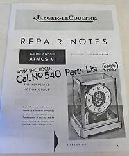 New Atmos Clock Repair Guides and Parts List - 3 Manual Set (BK-112)