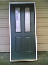 "NEW: Elegant THERMA-TRU Home 36""x80"" Fiberglass Exterior DOOR  & Wood Frame"