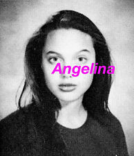 ANGELINA JOLIE High School Yearbook MONICA LEWINSKY   FREE Shipping