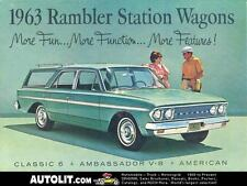 1963 AMC Rambler Station Wagon Sales Brochure mw3371-9YLU3M