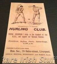 Hurling Club - Young Irishmen Rally To Support The GAA - Irish Liverpool Print