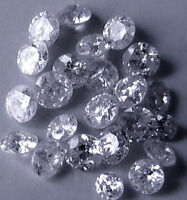 0.04 cts total t lot x 10 River D I1 natural  loose round diamonds 0.80-0.90 mm