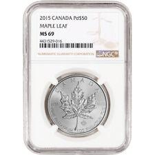 2015 Canada Palladium Maple Leaf $50 - NGC MS69