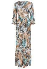 DANIEL HECHTER Trendiges Damen Maxi-Kleid mit Rüschen florales Muster Viskose
