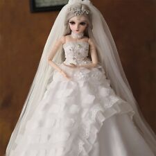 "Xmas Gift 22"" 1/3 BJD Doll Handmade Dolls Wedding Dress Beautiful Clothes Girl"